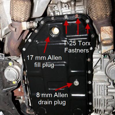 Audi 01v Tiptronic Transmission Fluid Change Europa