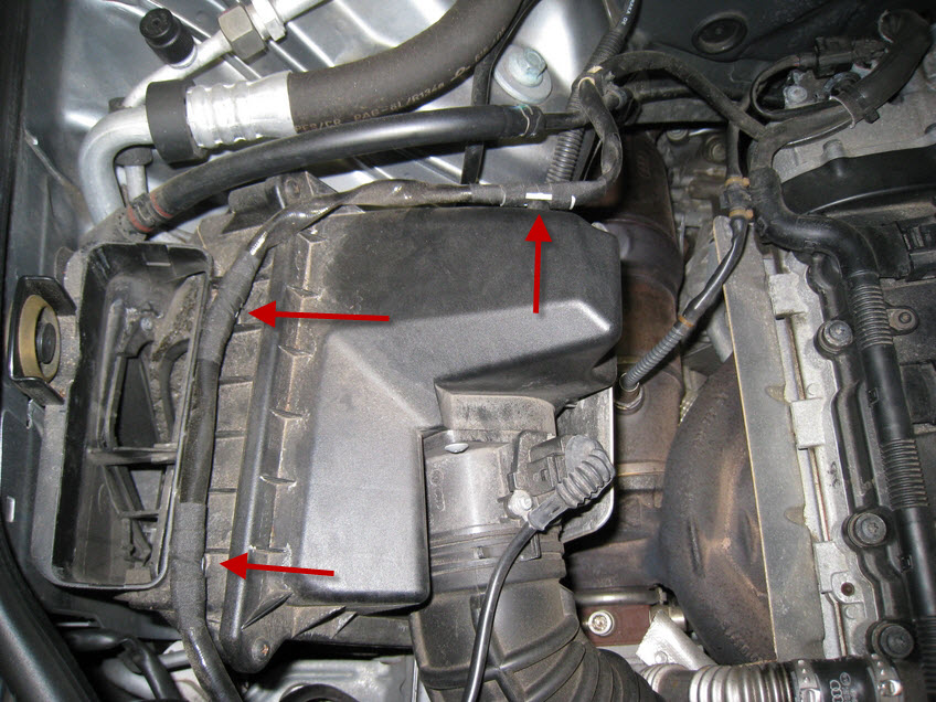 Audi A B Air Filter Install on 2003 Audi A4 Engine Diagram