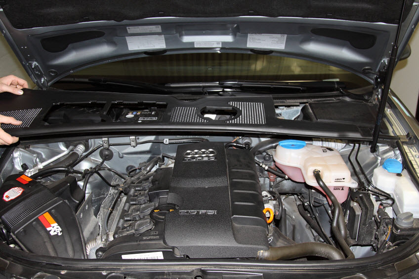 Audi A4 Engine Cover Kit Install